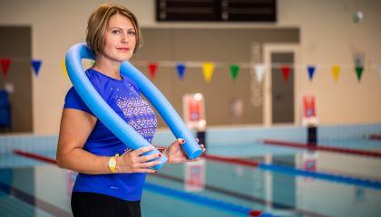Vandens aerobikos ir plaukimo pamokų trenerė - Marina Čiursina